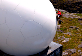 Radome with Climber